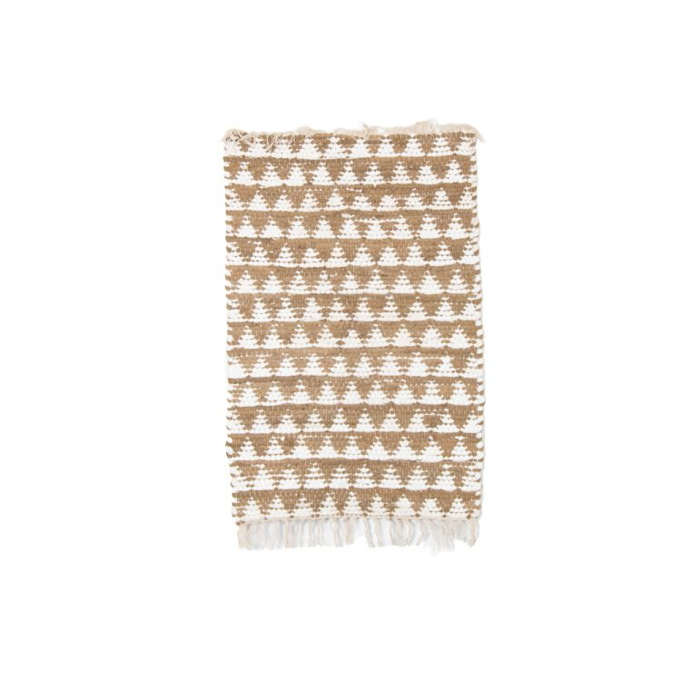 Small neutral and white triangle rug | TradeAid