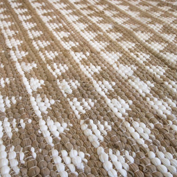 Small neutral and white triangle rug | Gallery 1 | TradeAid
