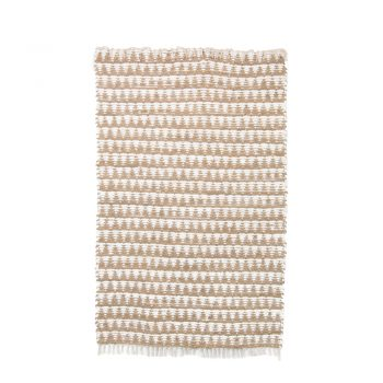 Large neutral and white triangle rug | TradeAid