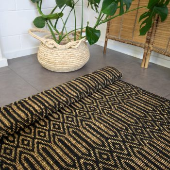 Large deco diamond rug | TradeAid