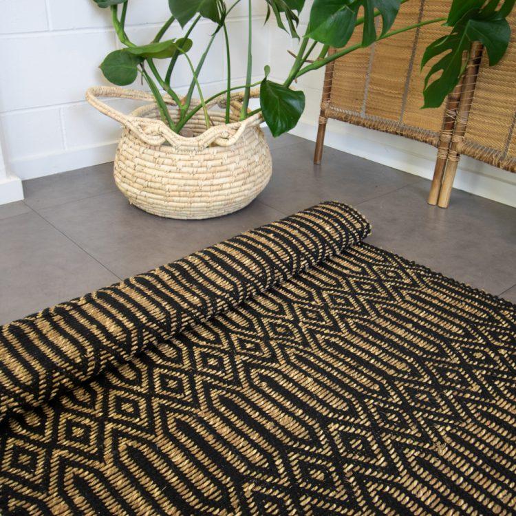 Large deco diamond rug   TradeAid