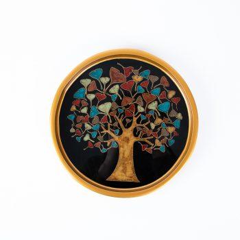 Black tree of life tray | TradeAid