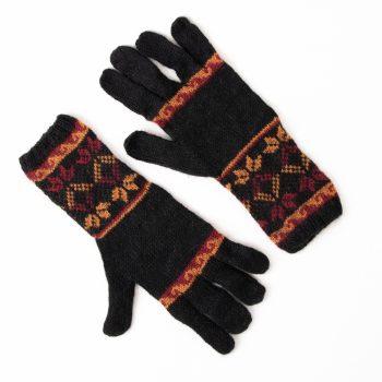 Black alpaca blend gloves | TradeAid