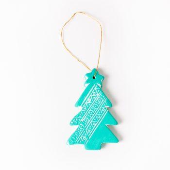 Turquoise tree hanging   TradeAid