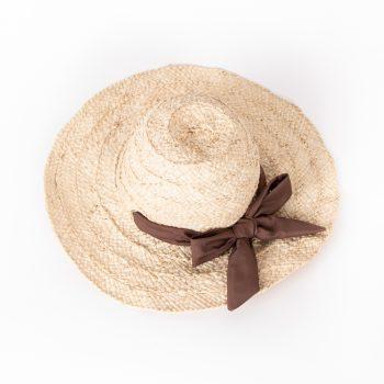 Vita hat – brown ribbon   TradeAid
