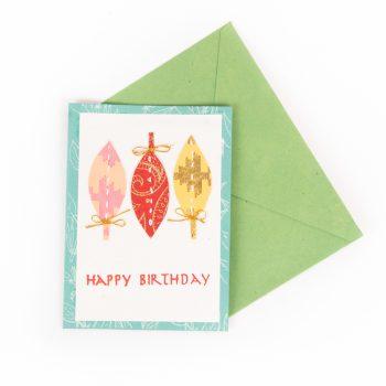 Leafy birthday card | TradeAid