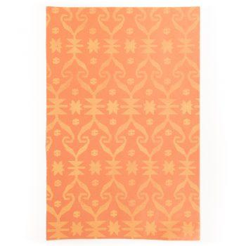 Orange jamdani print paper | TradeAid