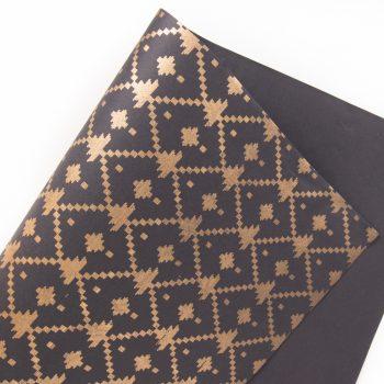 Gold jamdani print paper | TradeAid